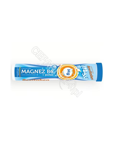 NORD FARM Magnez b6+potas revitaben mussy x 20 tabl musujących
