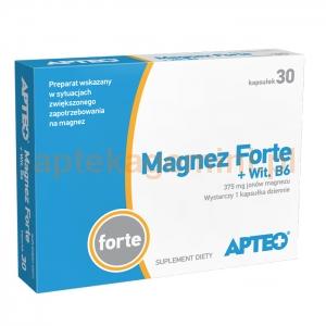 SYNOPTIS PHARMA Magnez Forte + Witamina B6, Apteo, 30 kapsułek