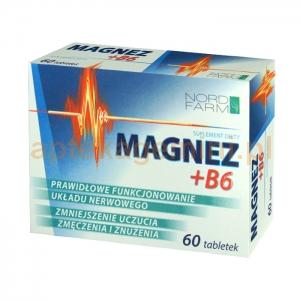 NORD FARM Magnez + Witamina B6, 60 tabletek