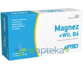 SYNOPTIS PHARMA SP. Z O.O. Magnez + Wit.B6 APTEO 60 tabletek