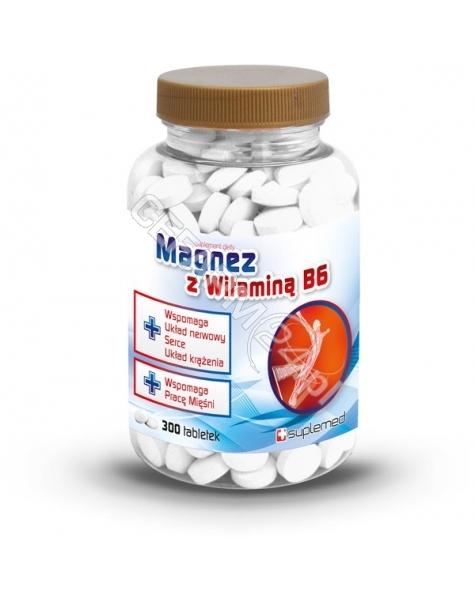 KOSMETYKA NATURALNA Magnez z witaminą B6 x 300 tabl