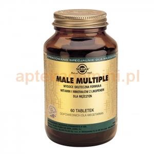 SOLGAR Male Multiple dla mężczyzn, Solgar, 60 tabletek
