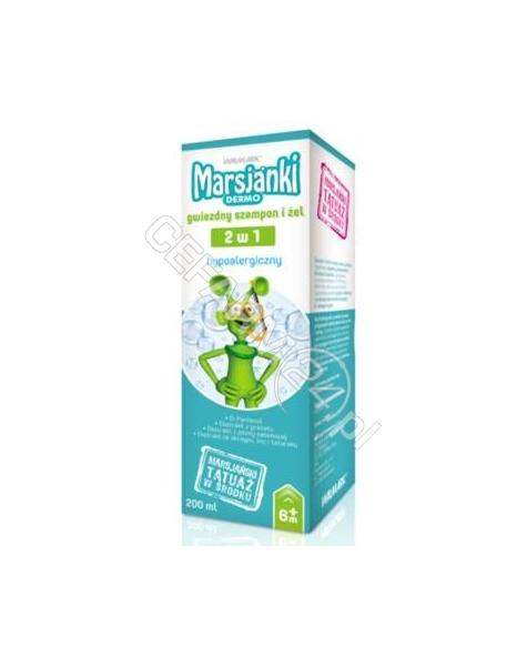 WALMARK Marsjanki dermo gwiezdny szampon i żel 2w1 200 ml