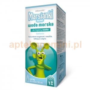 Walmark Marsjanki Mini, woda morska do higieny noska, spray, od 1 miesiąca, 30ml