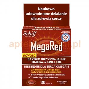 RECKITT BENCKISER Megared Omega 3 Krill Oil, 30 kapsułek