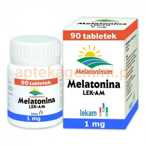 LEK-AM Melatonina 1mg, 90 tabletek