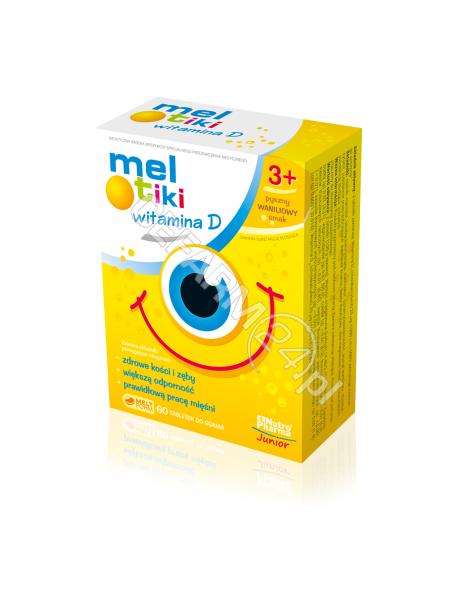 HOLBEX Meltiki witamina D x 60 tabl do ssania o smaku waniliowym