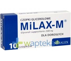 Miralex Milax-M, czopki glicerolowe dla dorosłych, 10 sztuk