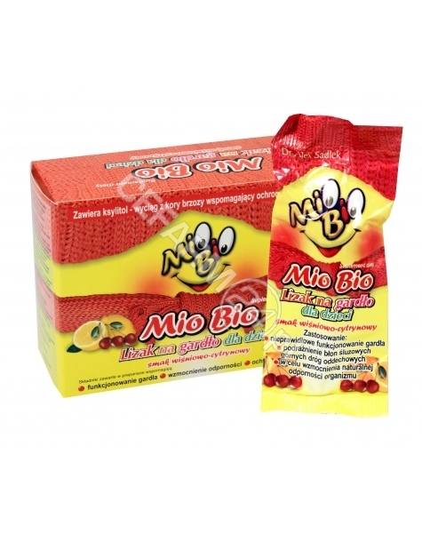 S-LAB Mio Bio lizak na ból gardła bez cukru x 10 szt
