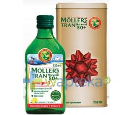 PETER MOLLER Mollers 50+ Tran Norweski w puszce cytrynowy płyn 250 ml