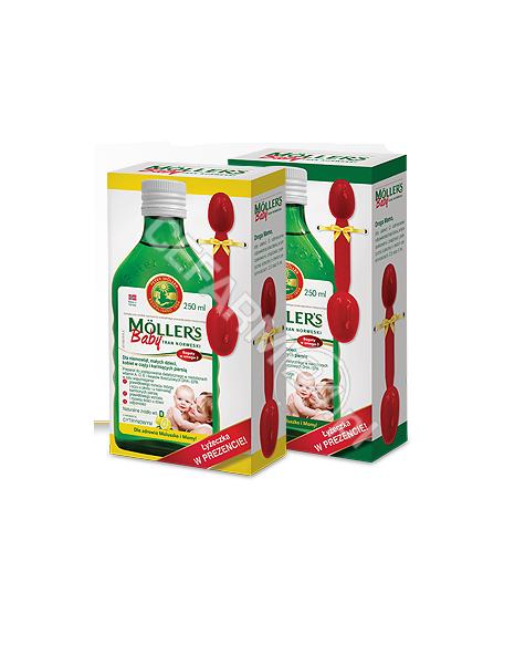 ORKLA HEALTH Mollers Baby tran norweski o aromacie naturalnym 250 ml + łyżeczka w prezencie