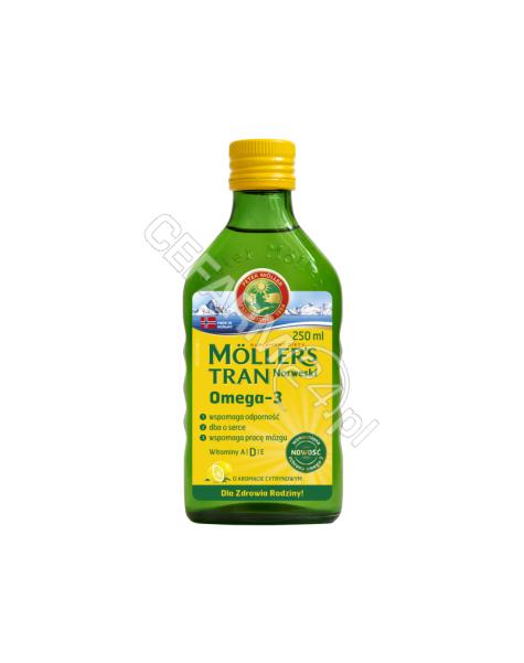 ORKLA HEALTH Mollers tran norweski o aromacie cytrynowym 250 ml