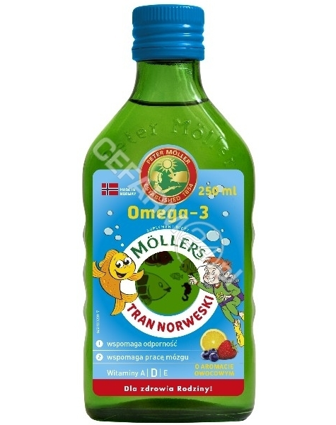 ORKLA HEALTH Mollers tran norweski o aromacie owocowym 250 ml