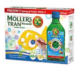 AXELLUS MOLLERS Tran Norweski owocowy 250 ml + spirograf rybka