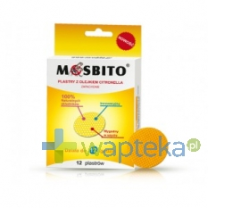 VERCO MOSBITO Plastry odstraszające komary 12 sztuk