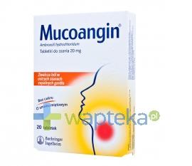 BOEHRINGER INGELHEIM INTERN.GMBH Mucoangin 0,02g 20 tabletek do ssania