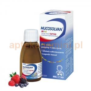 BOEHRINGER INGELHEIM Mucosolvan Mini, syrop 0,015g/5ml, dla dzieci powyżej 1 roku życia, 100ml