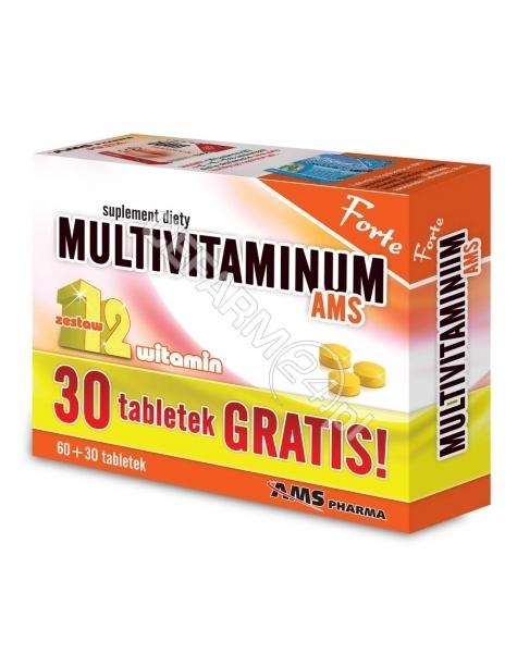 AMS PHARMA Multivitaminum AMS Forte x 60 tabl + 30 tabl GRATIS !!!