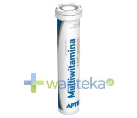 SYNOPTIS PHARMA SP. Z O.O. Multiwitamina z żeń-szeniem o smaku cytrynowym APTEO 20 tabletek musujących