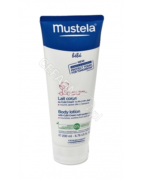 EXPANSCIENCE Mustela bebe mleczko do ciała z cold cream 200 ml