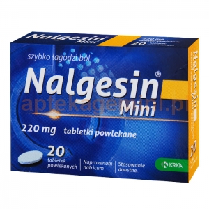 KRKA Nalgesin Mini 220mg, 20 tabletek