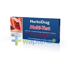 DIAGNOSIS S.A. NARKODIAG Multi-Test panelowy do wykrywania narkotyków w moczu 1 sztuka - Krótka data ważności - do 29-12-2015