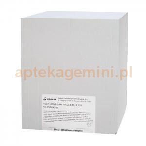 POLPHARMA Natrium Chloratum, Polpharma 0,9%, 100 sztuk po 5ml