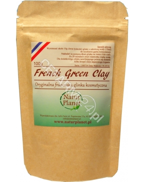 NATUR PLANET Natur Planet glinka zielona kosmetyczna oryginalna francuska 100 g
