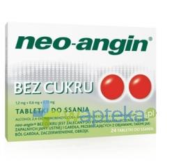 Nepentes Neo-Angin bez cukru, 24 tabletki do ssania