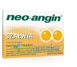 DIVAPHARMA GMBH Neo-Angin Szałwia pastylki 24 sztuki