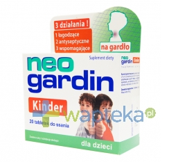 UNIPHAR SP Z O.O. Neogardin Kinder 20 tabletki - Krótka data ważności - do 31-12-2015