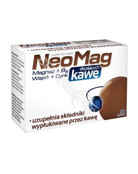 AFLOFARM Neomag dla pijących kawę x 50 tabl