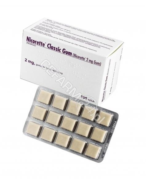 INPHARM Nicorette classic gum 2 mg x 105 szt (import równoległy Inpharm)