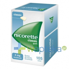 MCNEIL AB Nicorette Classic Gum 4mg 105 sztuk