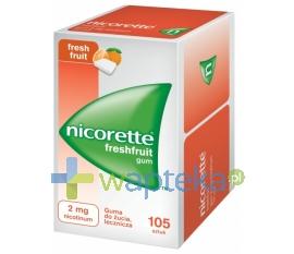 Johnson & Johnson Nicorette FreshFruit Gum, 2mg, 105 sztuk