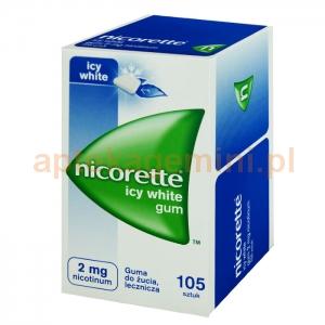 Johnson & Johnson Nicorette Icy White Gum, 2mg, 105 sztuk