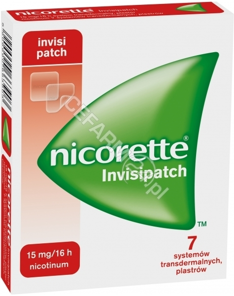 MCNEIL Nicorette invisipatch plastry 15 mg/16 h x 7 szt (data ważności <span class=