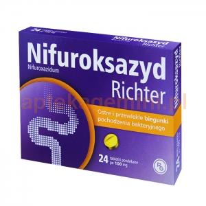 GEDEON RICHTER Nifuroksazyd Richter 100mg, 24 tabletki