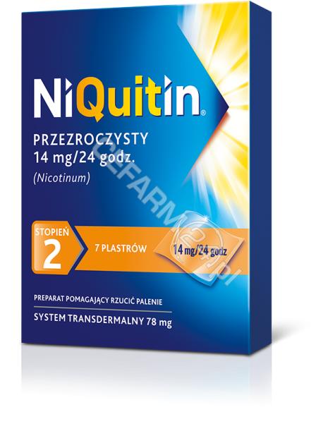 GLAXOSMITHKL Niquitin 14 mg x 7 plastrów przeźroczystych