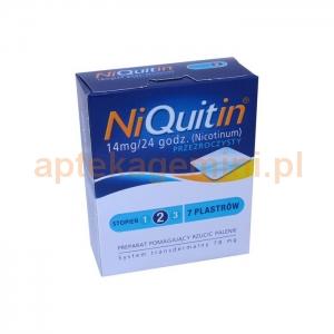 GLAXOSMITHKLINE NiQuitin 14mg/24h, 7 plastrów przeźroczystych