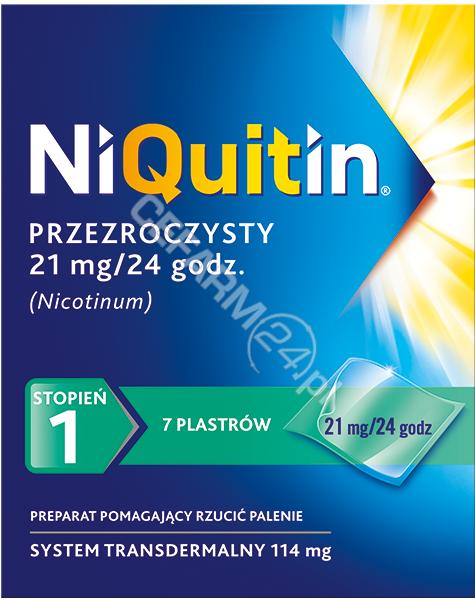 GLAXOSMITHKL Niquitin 21 mg x 7 plastrów przezroczystych