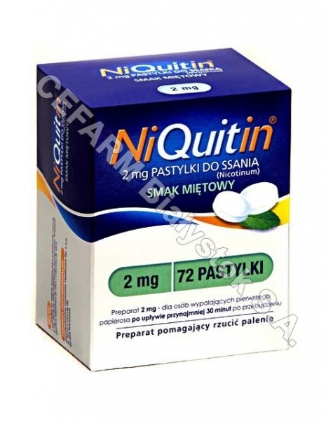 GLAXOSMITHKL Niquitin miętowy 2 mg x 72 pastylek do ssania