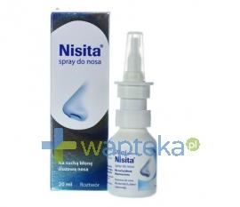 ENGELHARD ARZNEIMITTEL GMBH & CO KG Nisita spray do nosa 20 ml - Krótka data ważności - do 30-11-2015