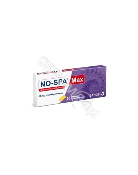 SANOFI No-spa max 80 mg x 20 tabl powlekanych