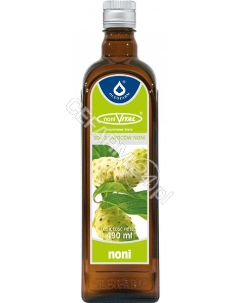 OLEOFARM NoniVital sok z owoców noni 100% 490 ml