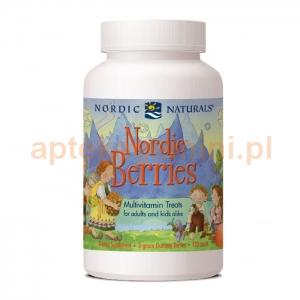 NORDIC NATURALS Nordic Berries, żelki dla dzieci od 2 roku życia, 120 sztuk