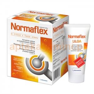 NOVASCON Normaflex, 60 saszetek żelowych + NORMAFLEX ULGA ŻEL 150 G GRATIS !