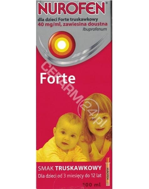 RECKITT BENC Nurofen dla dzieci forte zawiesina 40 mg/ml o smaku truskawkowym 100 ml