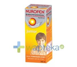 RECKITT BENCKISER (POLAND) S.A. Nurofen dla dzieci JUNIOR pomarańcza 100 ml