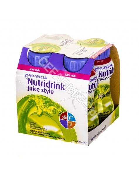 NUTRICIA Nutridrink juice style o smaku jabłkowym 4 x 200 ml